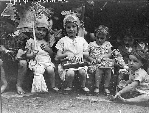 Kids with their presents, ca. 1934 by Sam Hood. Uploaded to Flickr by State Library of New South Wales.